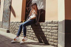 Teen girl in the city