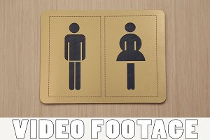 The sign of the toilet