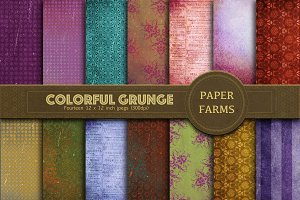 Colorful grunge digital paper