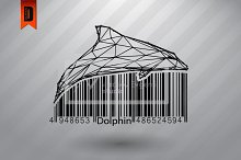 Dolphin from lines and barcode