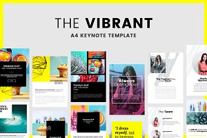 Vibrant - A4 Printable - Keynote