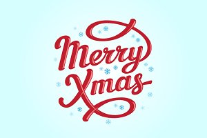 Merry Christmas lettering cards