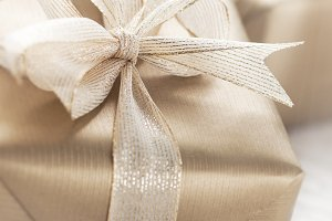 Golden elegant gifts,holiday concept