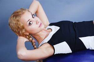 Woman go in for fitness
