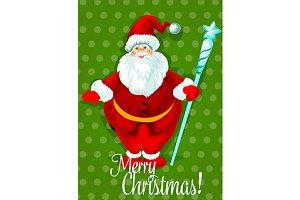 Santa Claus Christmas poster