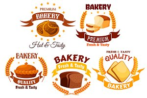Bakery shop product labels