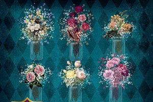 Twilight Mason Jar Bouquets