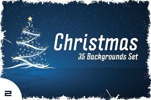 35 Christmas Backgrounds Set col.2
