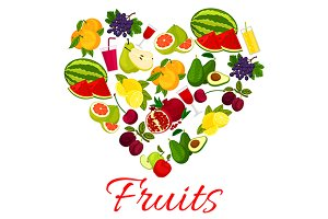 Fruit heart icon