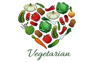 Vegetarian vegetable products
