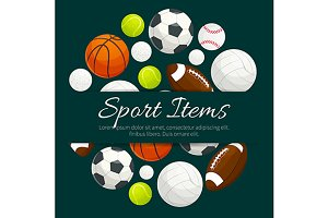 Sport balls and gaming items