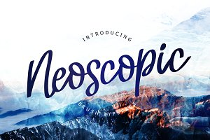 Neoscopic Brush Typeface