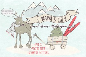 Warm & Cozy Illustration Pack