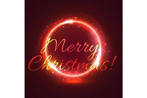 Christmas star circle festive poster