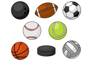 Isolated vector sport items