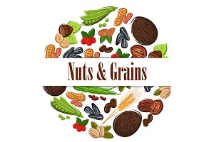 Nuts and grains poster