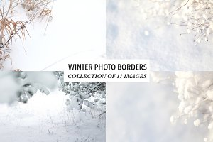 Winter Photo Backgrounds -Photo Pack
