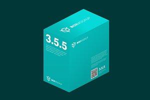 3.5.5 Flat Style 3D Isometry Mockup