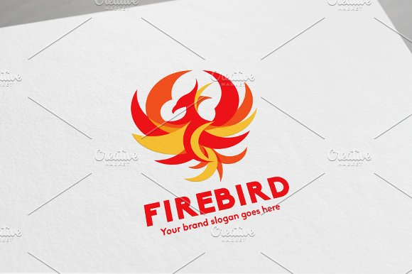 Fire Bird Phoenix Logo