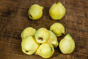 Fresh yellow quince