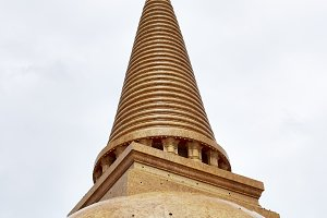 Big Pagoda famous in Thailand