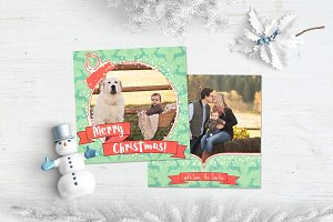 Christmas Card | Cute Reindeers