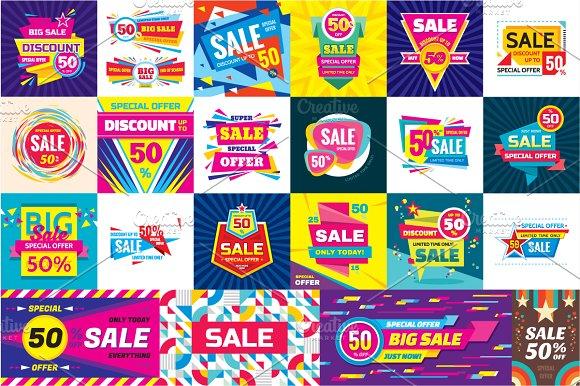 Sale Discount Vector Banners Set Flyer Templates on Creative – Discount Flyer Template