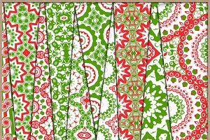 Christmas Red and Green Papers 1