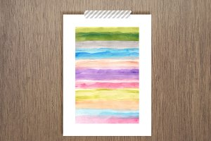hand painted watercolor art print
