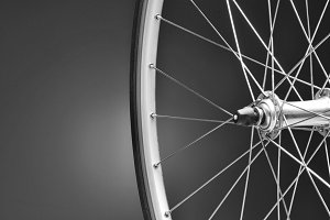 Bicycle Wheel Closeup