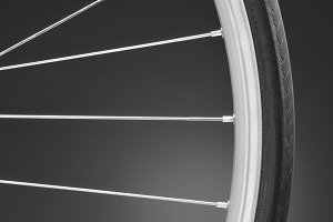 Bicycle Wheel Black and White Close