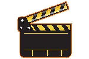 Movie Camera Slate Clapper Board