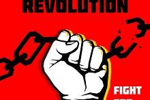 Freedom, revolution protest poster