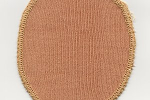 Brown fabric patch