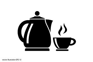 kettle and cup