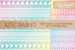 Aztec Gradient 16 Pattern Set