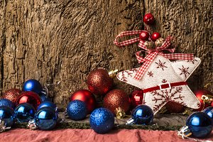 Christmas rustic background.