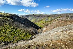 Deserted slopes of Iceland