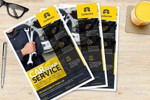Car mechanic A4 Flyer