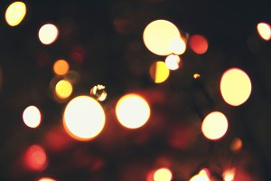 Christmas lights.
