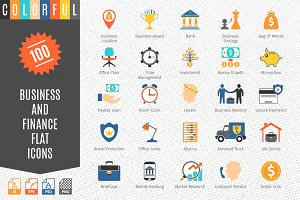Business and FIinance Colorful Icons
