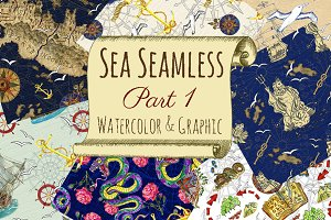 Sea seamless patterns 1