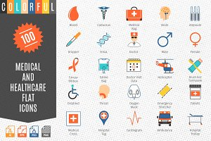 Medical and Healthcare Colorful Icon