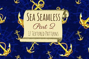 Sea seamless patterns 2