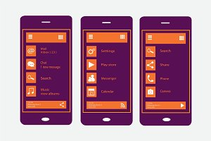 Material design purple and orange