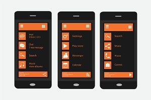 Material design orange and black