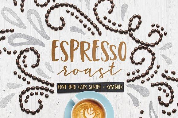 Espresso Roast Font Trio - Script