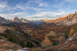 Autumn in Dolomites mountains
