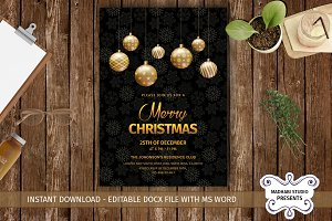 Merry Christmas Invitations Template