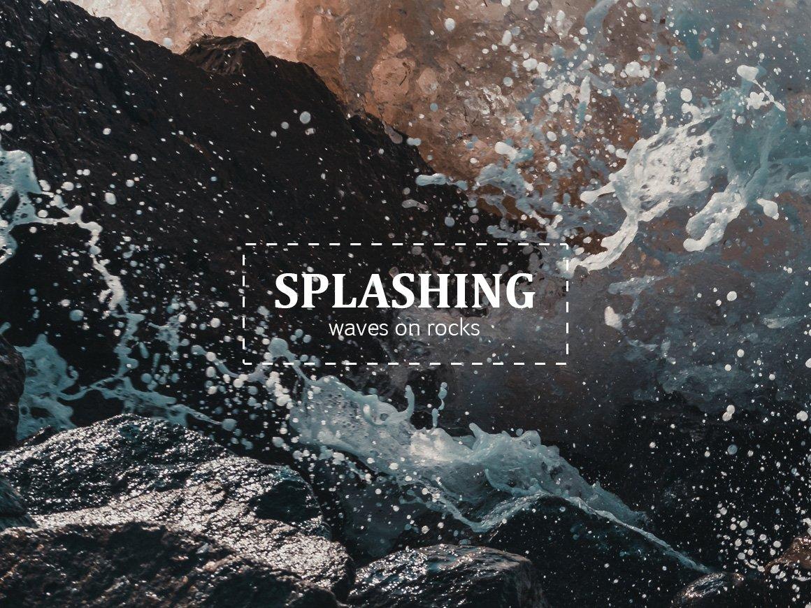 Splashing waves photo pack nature photos creative market biocorpaavc